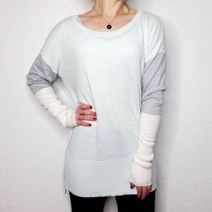 Calvin Klein Color Block Long Cozy Tunic Sweater